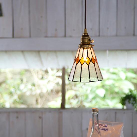 ステンドグラス ランプ ペンダントライト 照明 レトロ アートワークスタジオ